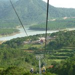 View from the cable car down to Truc Lam, Dalat, Vietnam