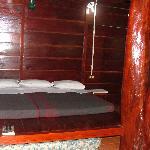 Cozy bed.