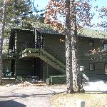 Our cabin- there were 2 on the upper level and 2 on the lower level. The upper level was very qu