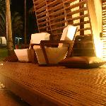 lounging chairs outside our room
