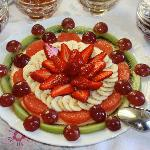 And that's just the fruit platter