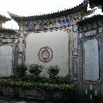 Traditional Bai architecture of the building