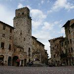 One of the piazza's of San Gimignano