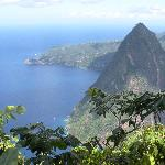 we did the piton climb... view from the top