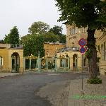 Gate to Sanssouci as seen from hotel sidewalk