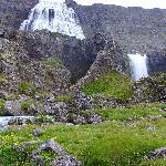 The majestic Dynjandi waterfall in Arnarfjord