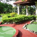 Some of the mini golf course