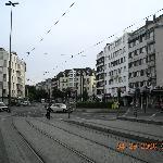 Hotel view from Worringer Platz tram station