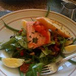 Raffles Salad, Salmon Salad, Very Good