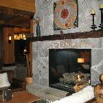 Fireplace in Lakeside Lounge