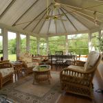 sun- lit conservatory