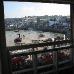 View from inside the Sloop Inn of St Ives