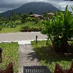 view of Arenal volcano from the room