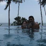 Con mi familia en playa de Uva