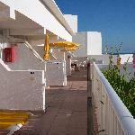 The balcony area