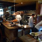 Chez Panisse: view of the upstairs kitchen area