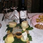 Degustation cheese platter - local cheeses  yum