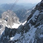 Ride up to Zugspitze on a cable car