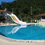 Pool Slide And Outside Bar Area
