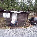 Family in front of our cabin #3.