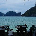 The view from the Hippies Bar, where I had my first beer on Phi Phi. The island you can see is P