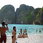 """Maya Bay on Phi Phi Lei. This is where they filmed, """"The Beach."""" Definitely worth the trip to se"""