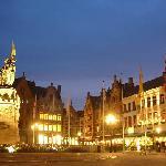 Night shot of Market Square