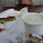 My prized clam chowder