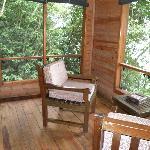 private veranda in chalet