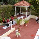 Gazebo wedding site, poolside
