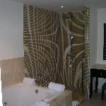 shower and double jacuzzi