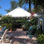 Gazebo, pool area, nice to get out of sun, meet friends and have lunch or snack!