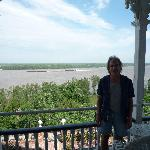 Upstairs balcony ovelooking MI river