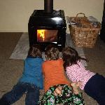 Kids enjoyed the open fire