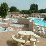 Pool complex with jacuzzis