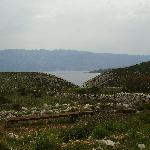 Beautiful limestone landscape scenery on the island of Pag near the hotel