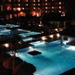 The Pool at nighttime