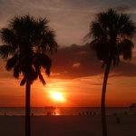 SUNSET AT CLEARWATER FLORIDA