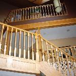 The impressive stairway