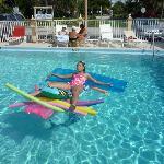 meine Tochter liebte den Pool