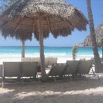 Las palapas en la playa