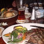 my steak and veggies
