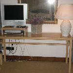 Luxurious Antique TV Console (Note wires!)