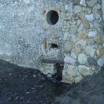 drain from kitchen onto beach
