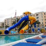Heated pool - fun slides!