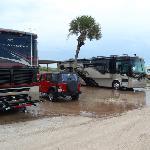 Oceanfront sites flood during rain...