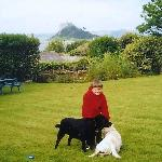 Our son, Chymorvah's dogs, and the Mount
