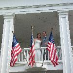 Up on our balcony right after the ceremony