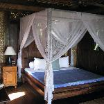 The bedroom in the mermaid villa