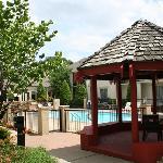 Pool, courtyard, gazebo & grilling area